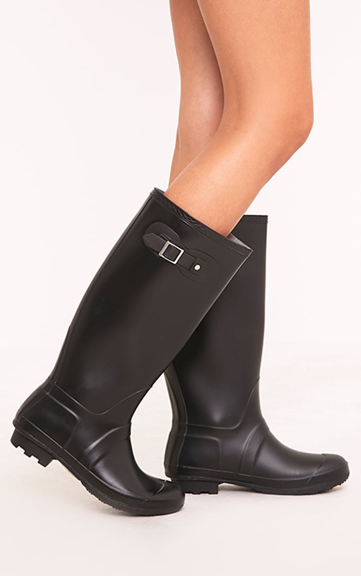 Martina Black Long Rain Boots 1
