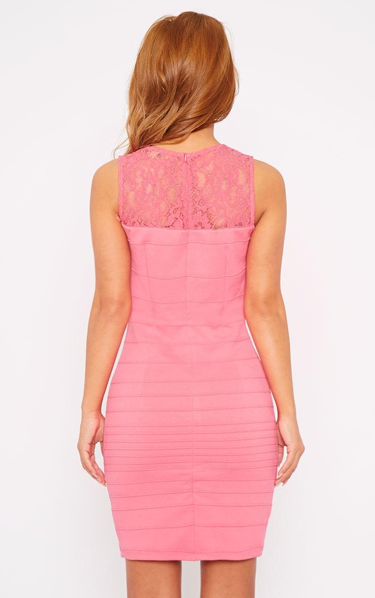 Primrose Pink Lace Top Bandage Dress 2