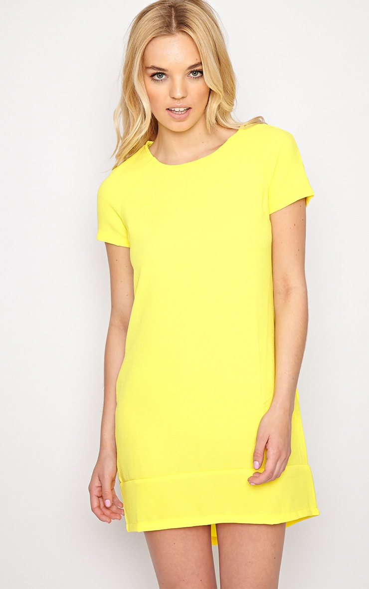 Gwyn Yellow Shift Dress 1