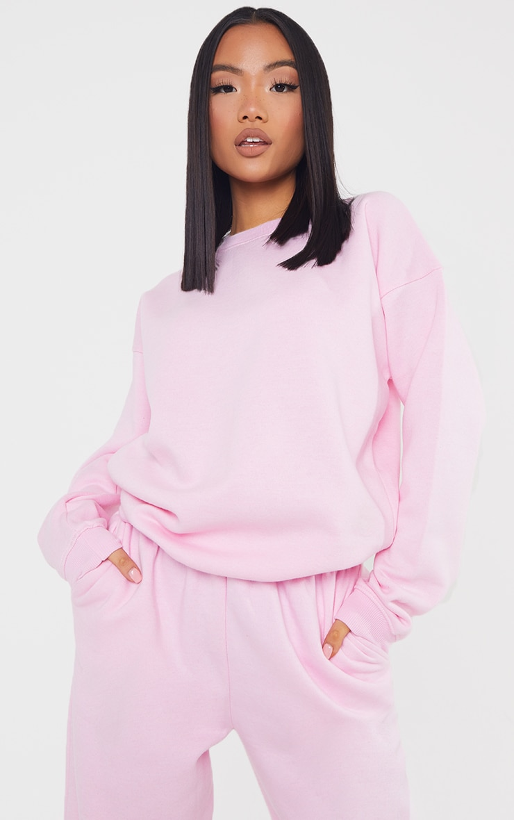 Petite Baby Pink Ultimate Oversized Sweater 1