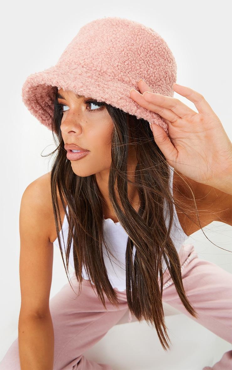 Pink Borg Bucket Hat 1