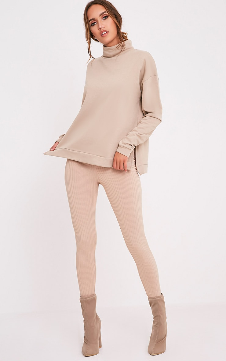 Ema Taupe Turtle Neck Oversized Sweater 5