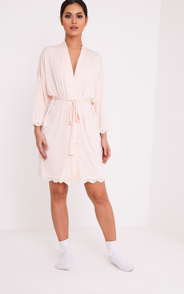The Bride's Squad Nude Slinky Dressing Gown 5