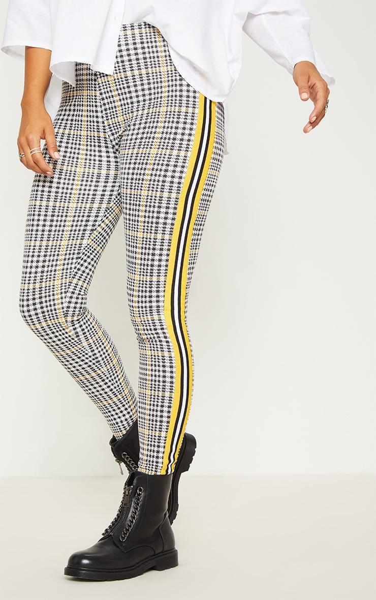Mustard Check Sport Stripe Legging 2