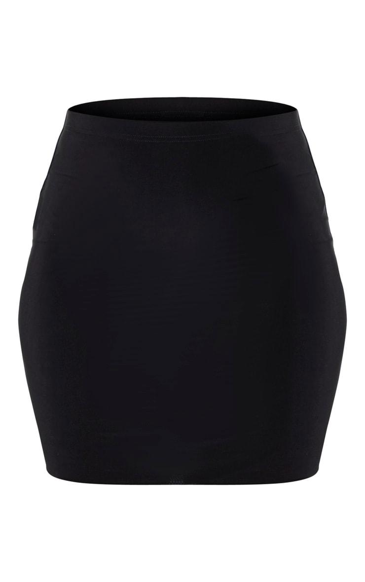 Black Slinky Mini Skirt 3