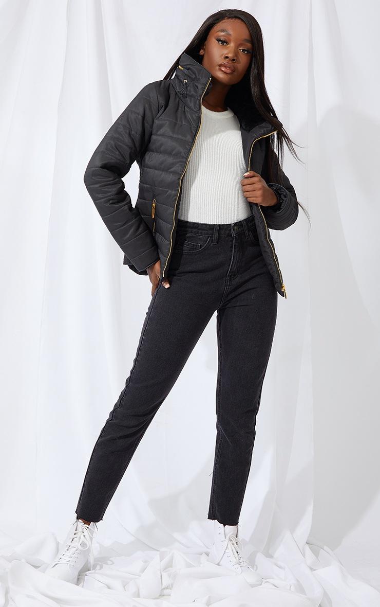 Tall Black Mara Puffer Jacket 3
