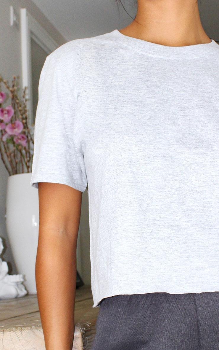 Petite Grey Crop T -Shirt 4