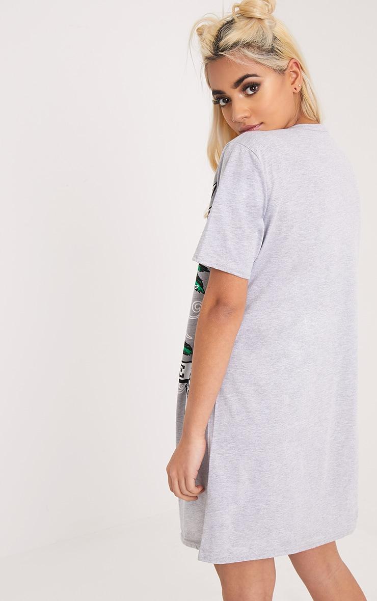 Live N Love Grey Choker Detail T Shirt Dress 2