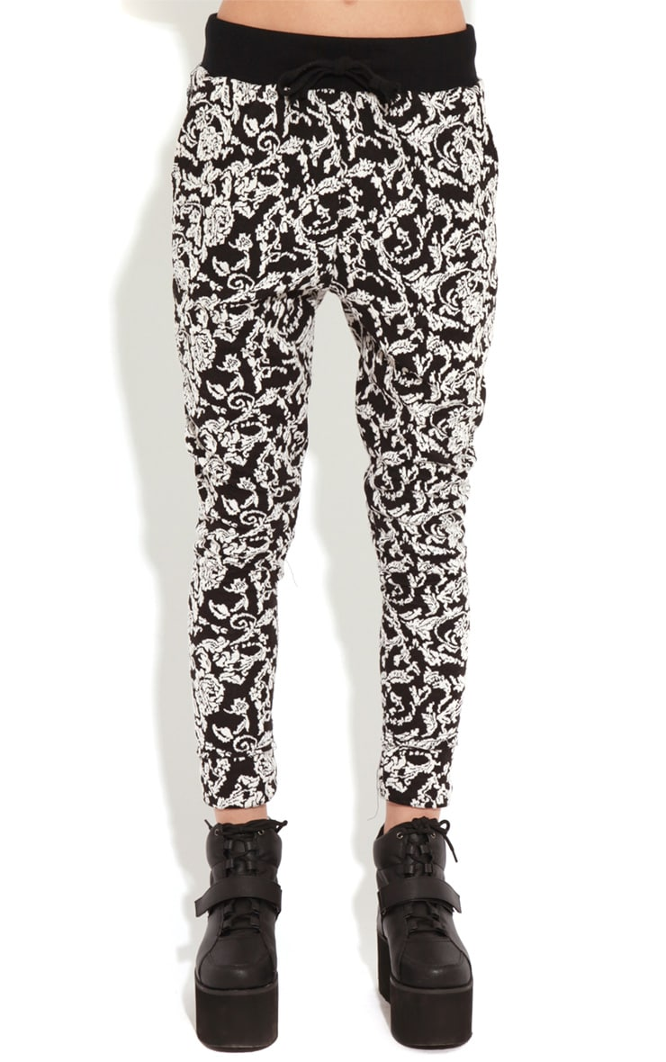 Libby Monochrome Floral Print Trousers  3