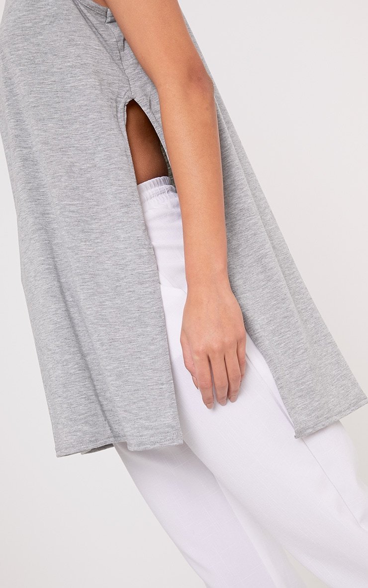 Basic Grey Side Split Vest 5