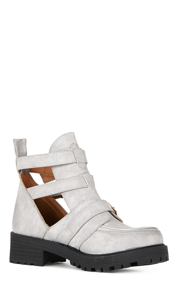 Jennifer Grey Cut Out Buckle Boots 3