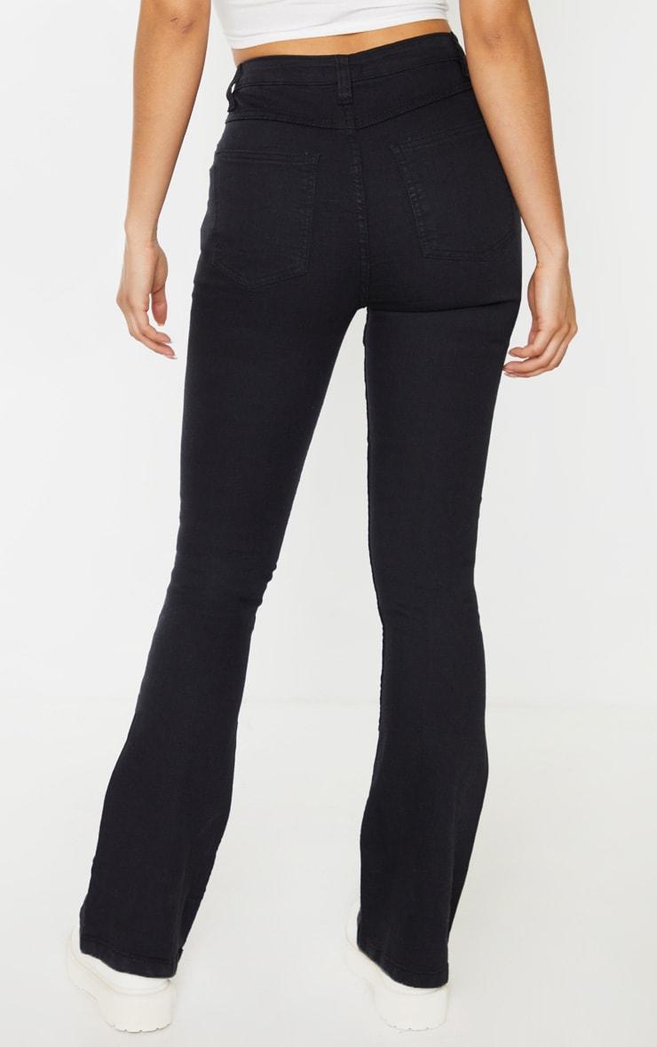 Tall Black Stretch Denim Flare Jeans 4