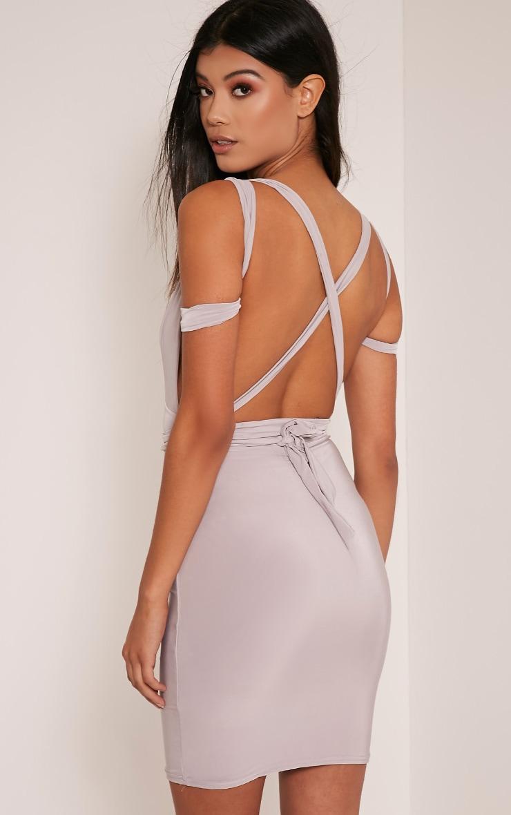 Lidia Grey Multiway Bodycon Dress 5