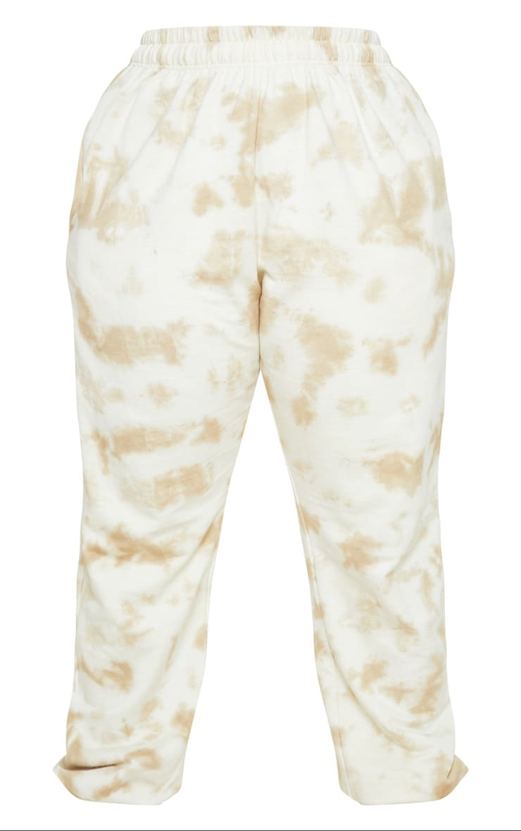 Plus Cream Tie Dye Jogger 5