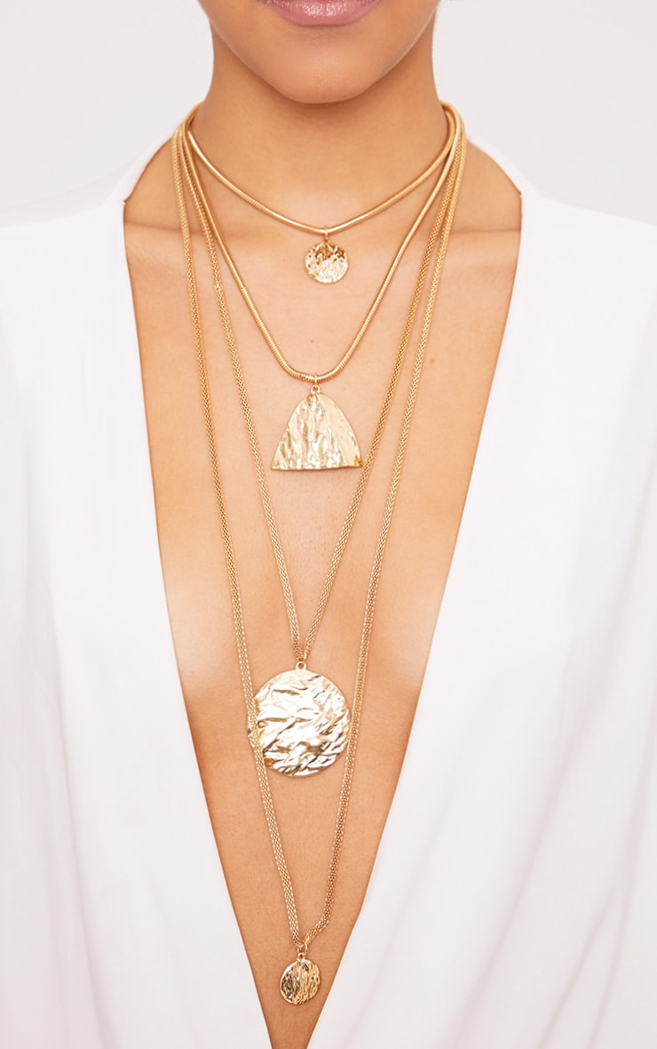Verity Gold Chunky Layered Necklace