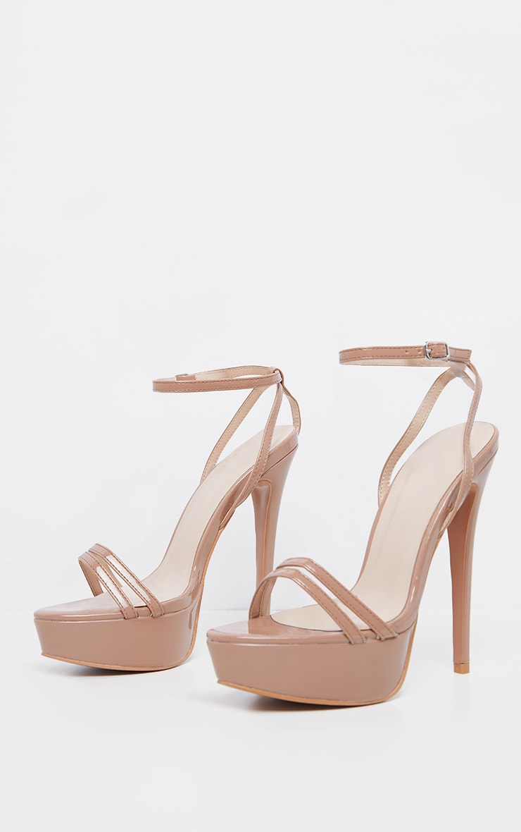 Nude High Platform Sandals 3