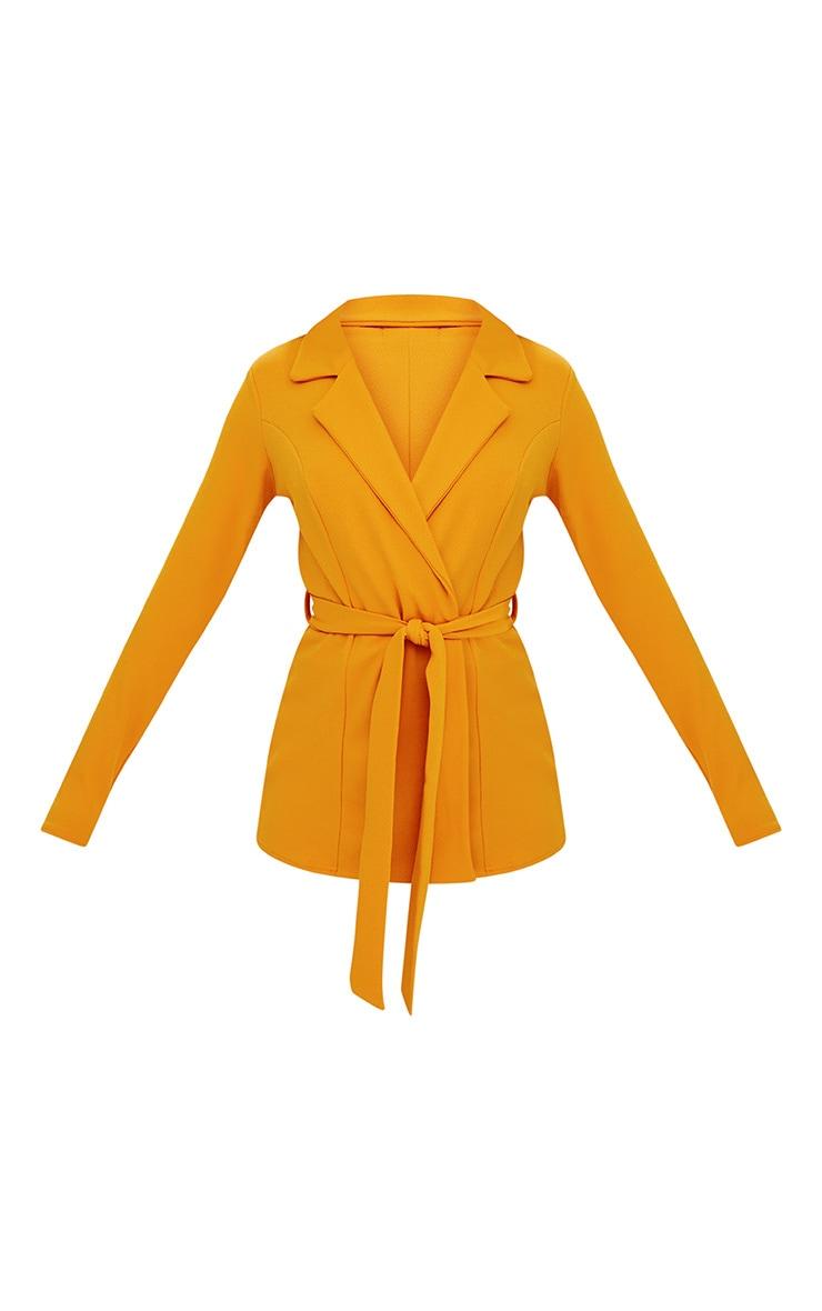 Mustard Belted Blazer 3