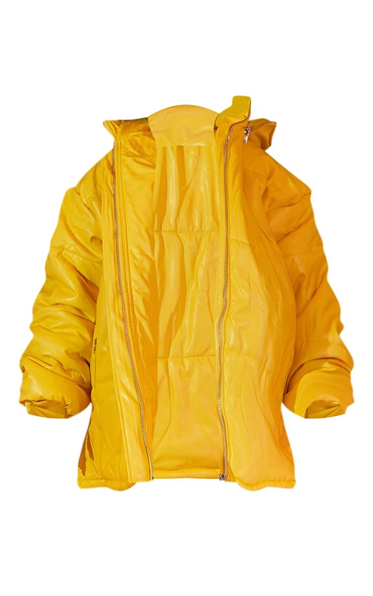 Plus Yellow Unisex PU Extreme Oversized Puffer Coat 6