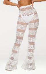 White Crochet Beach Flare 2