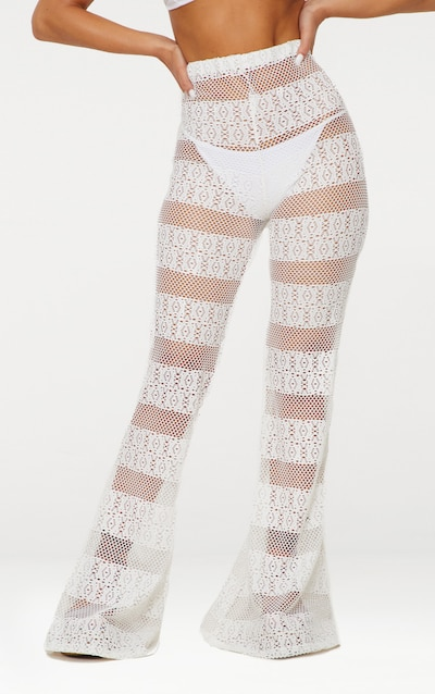 White Crochet Beach Flare