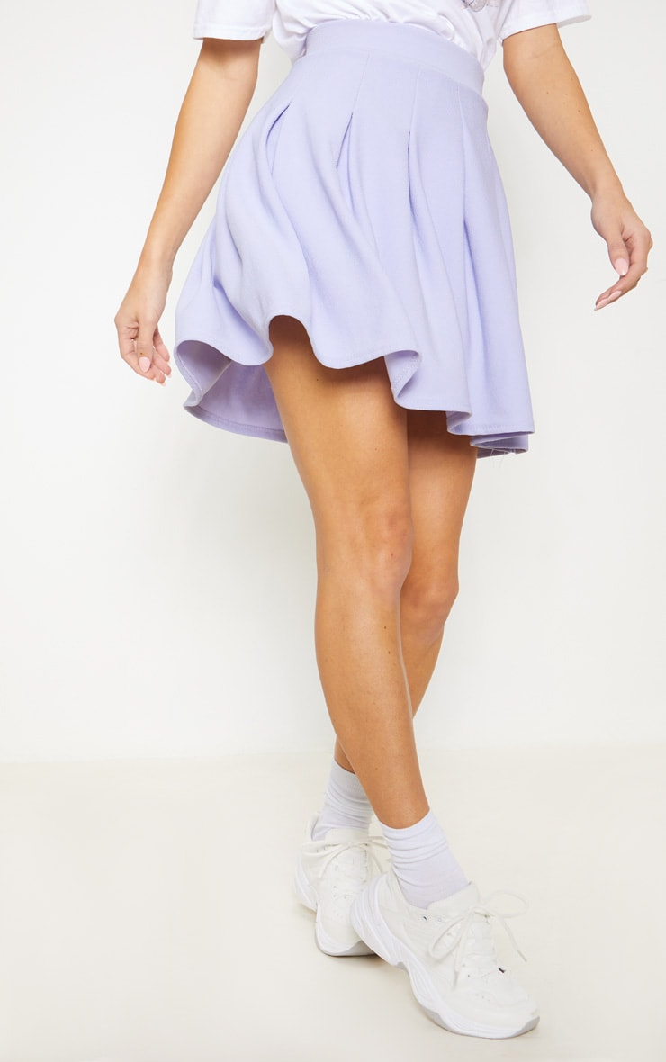 Lilac Pleated Tennis Skirt 2