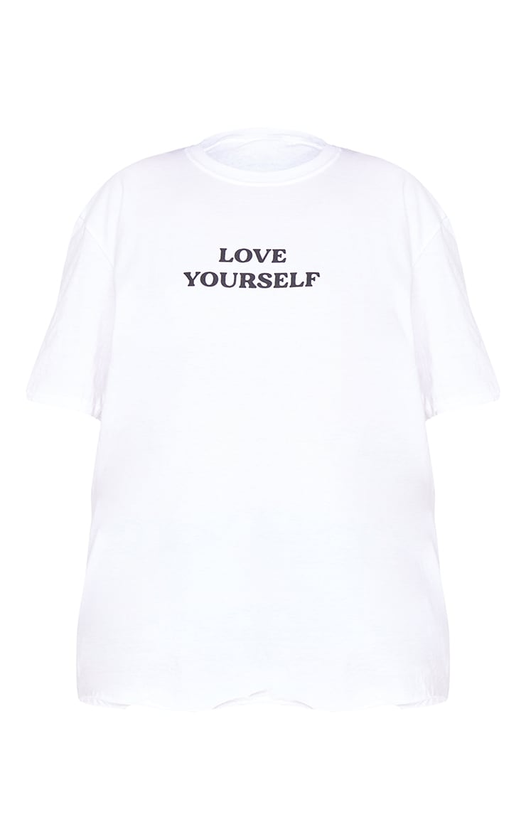 Plus White Love Yourself T Shirt 5