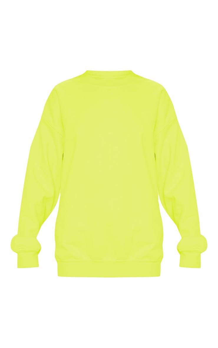 Neon Yellow Ultimate Oversized Sweater 3