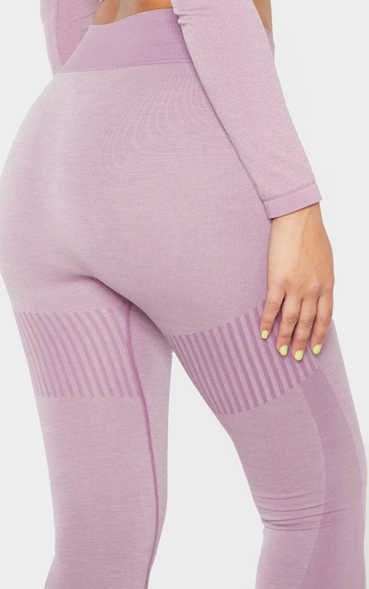 Lilac Seamless Stripe Detail Legging 6
