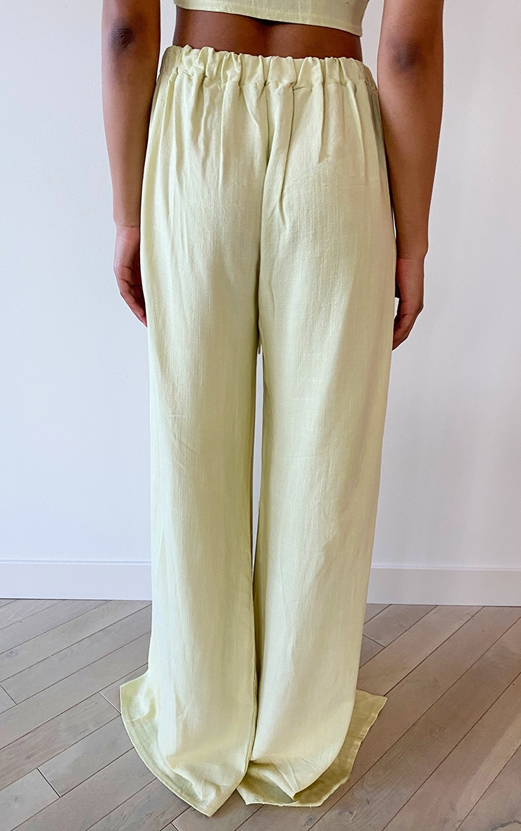 Tall Lime Front Split Light Weight Trouser 3