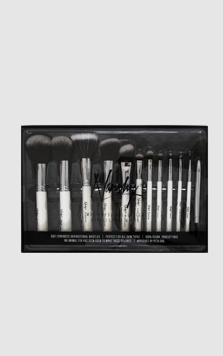 Nanshy Masterful Collection Pearlescent White Brush Set