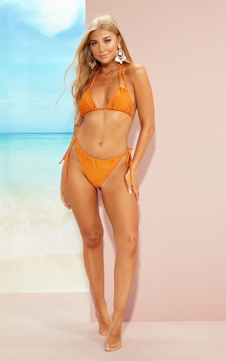Orange Adjustable Bikini Set 4