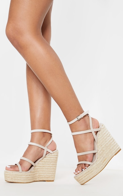 7131d71a7 Nude Strappy High Wedge