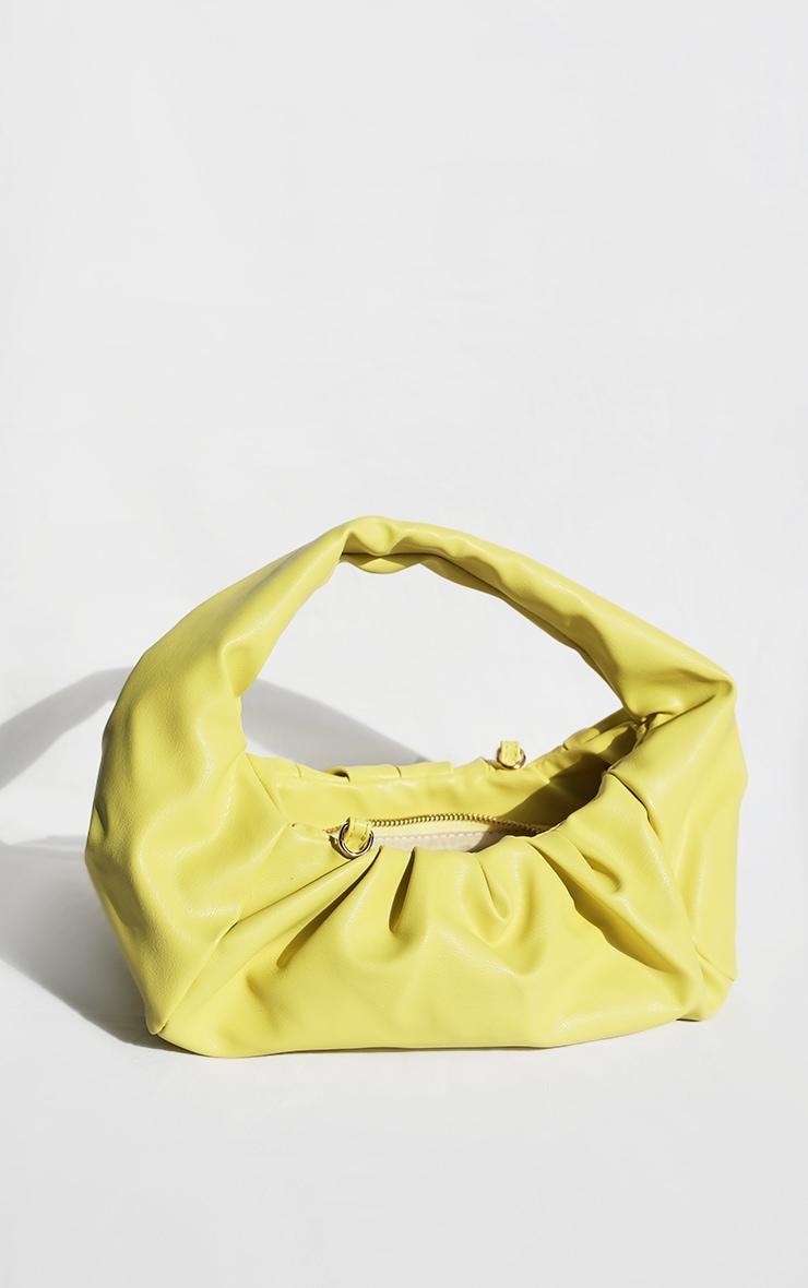 Yellow Ruched Shoulder Bag image 1