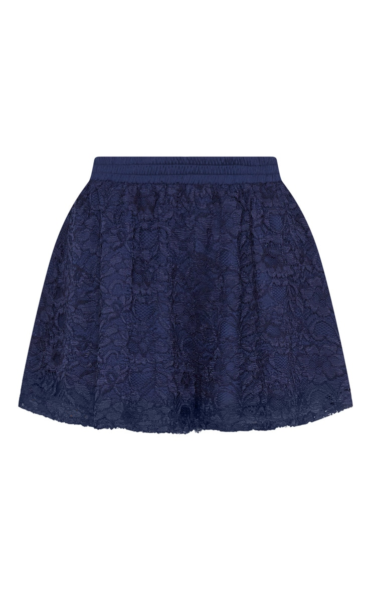 Navy Floaty Lace Short 3