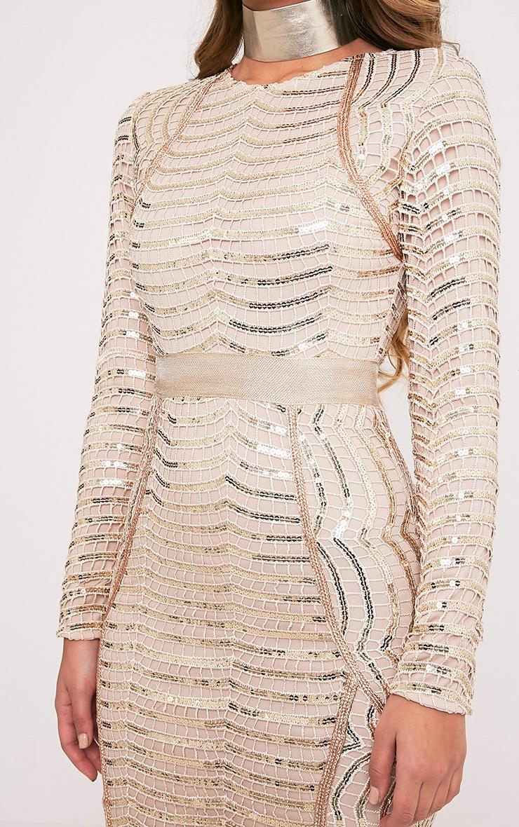 Kendika Gold Premium Sequin Midaxi Dress 7
