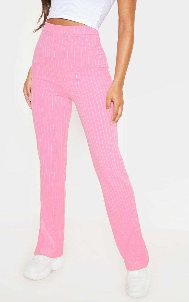 Pink Pin Striped Straight Leg Trouser  2
