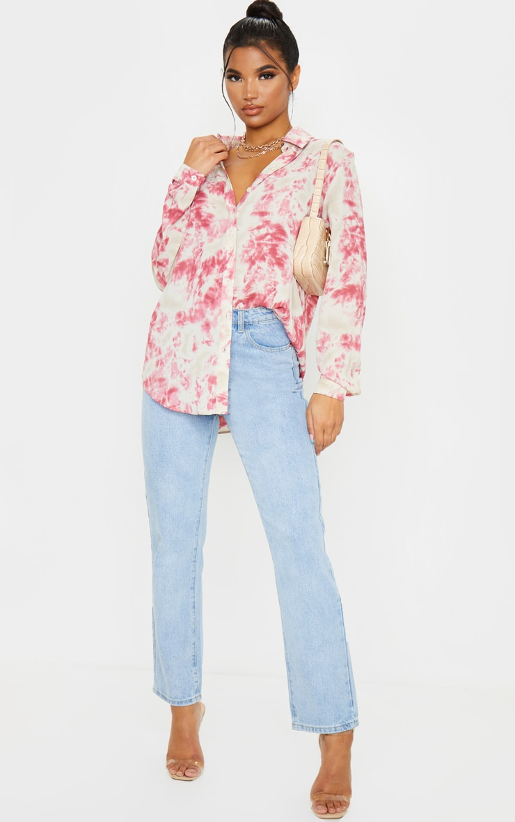 Fuschia Oversized Tie Dye Shirt 4