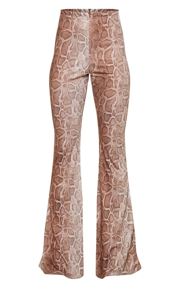 Stone Snake Flare Leg Trousers 5
