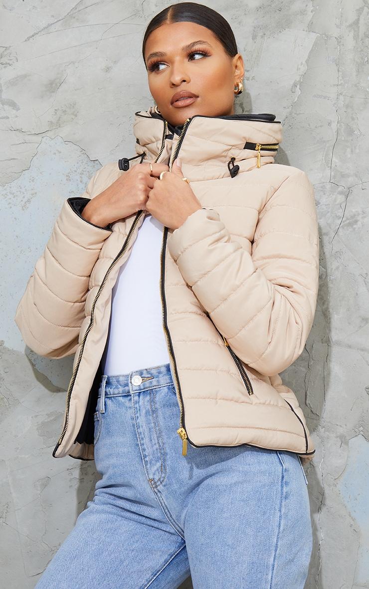 Mara Stone Puffer Jacket 1