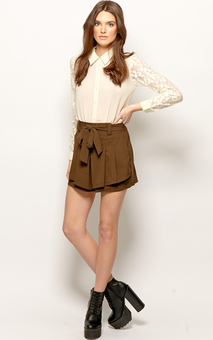 Montana Brown Pleated Shorts -M 3