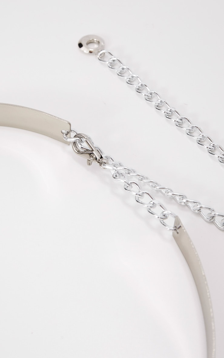 Silver Thin Metal Plated Belt 5
