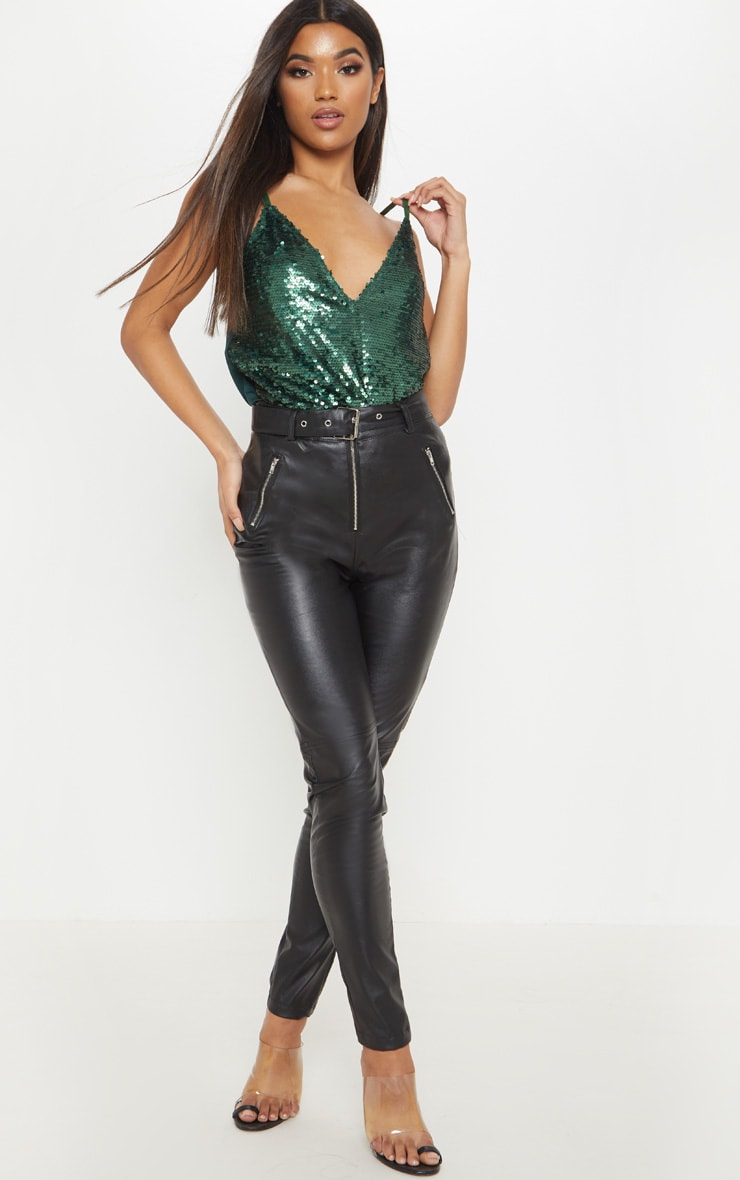Emerald Sequin Front Cami Top 4