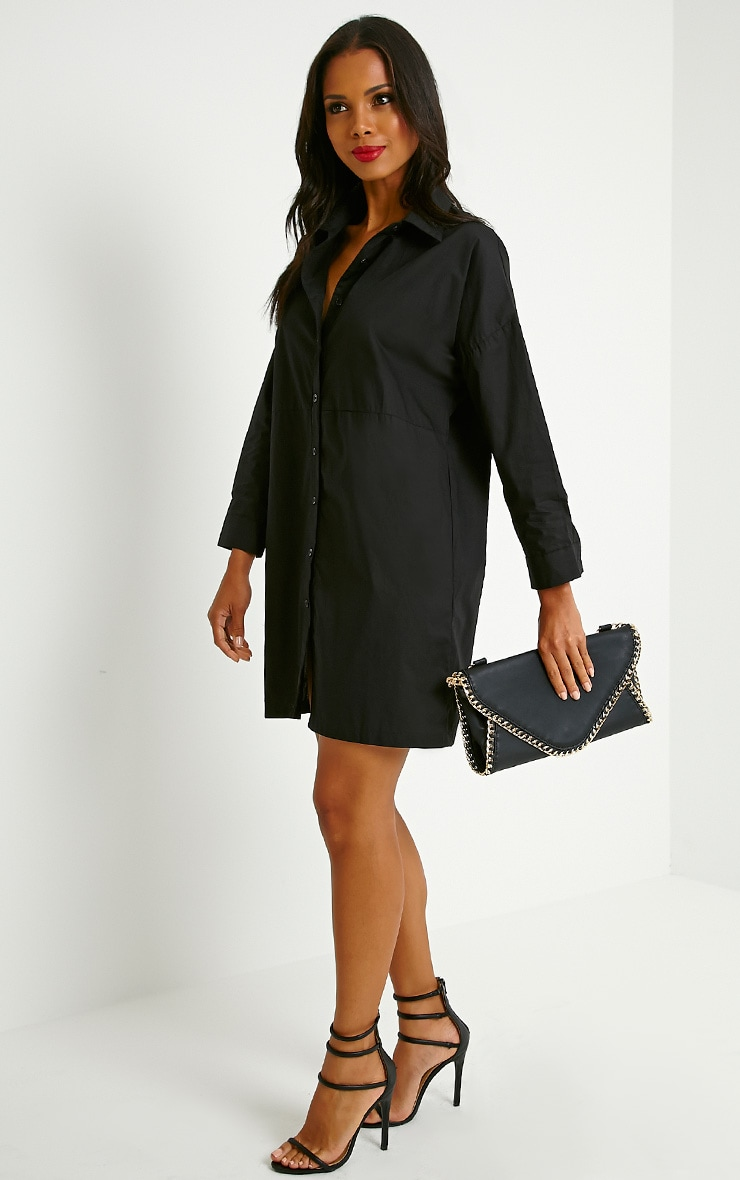 Carson Black Shirt Dress 3