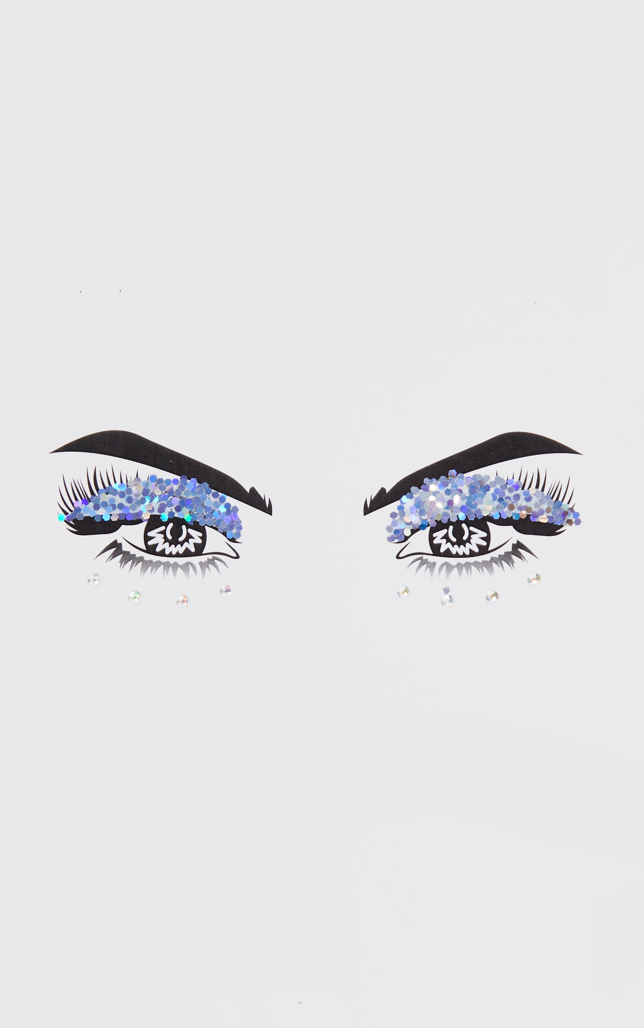 PRETTYLITTLETHING Disco Doll Glitter Eyes Jewels 3