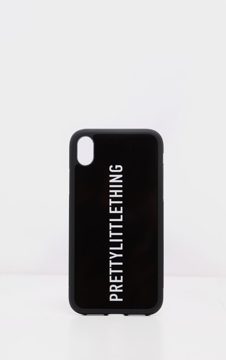 PRETTYLITTLETHING Black Logo XR IPhone Case 2