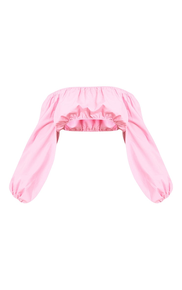 Pink Bardot Full Sleeve Shirt  3