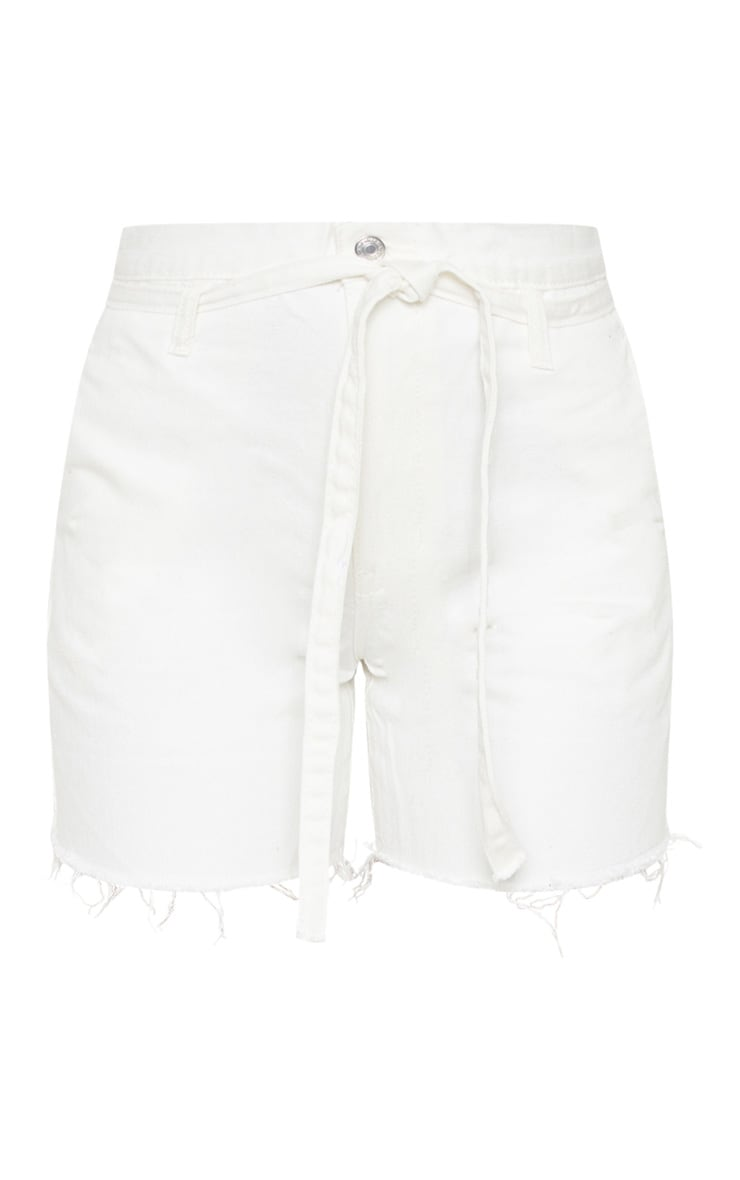 White Paperbag Shorts  3
