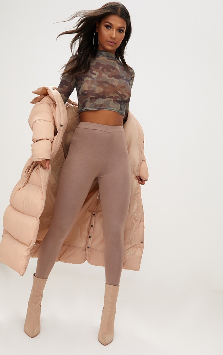 Taupe Ultimate Jersey High Waisted Leggings