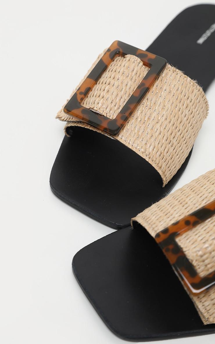 Raffia Buckle Mule Sandal 5
