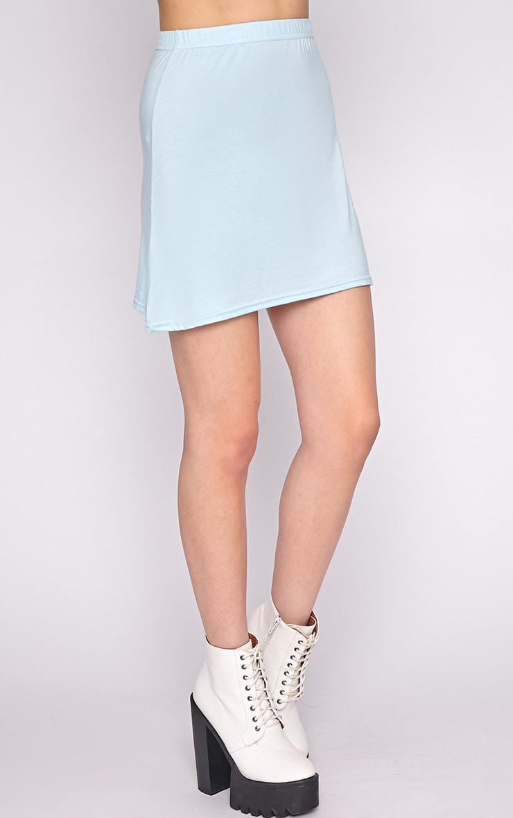 Erika Blue A Line Mini Skirt 4